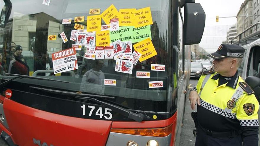 Jornada de huelga en los autobuses de TMB