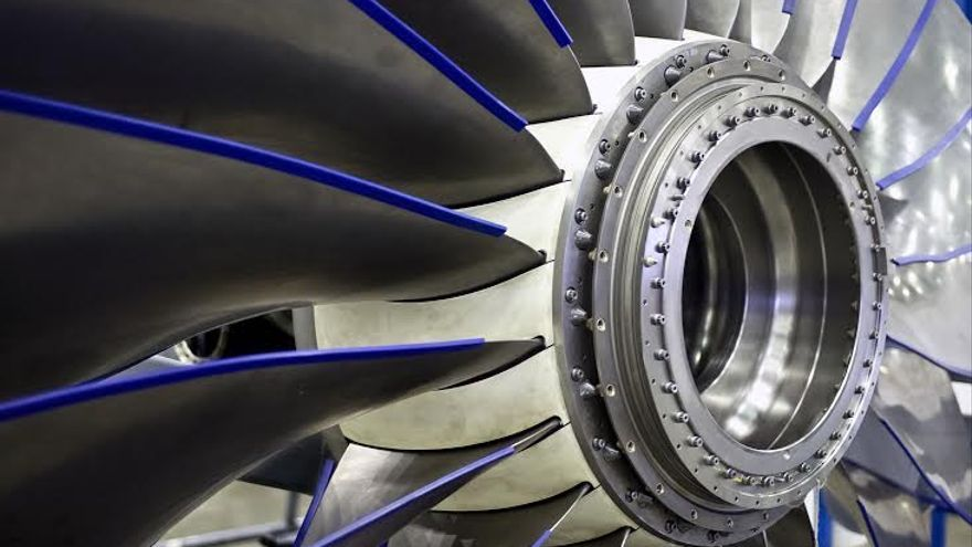 Motor de un avión. Foto: Iberia