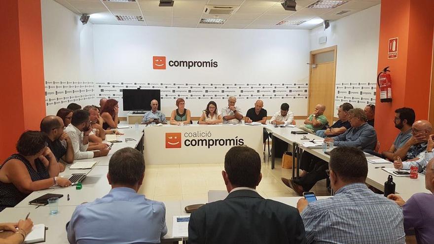 Reunión de la Comisión de Coordinación Institucional de Compromís