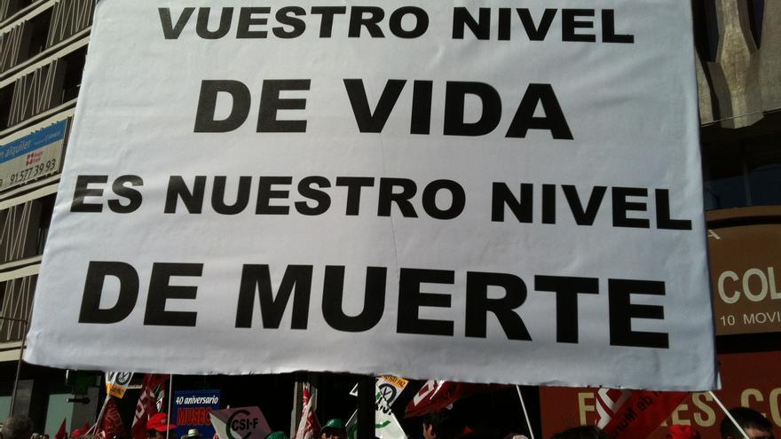 Pancarta de la marcha del 15-S