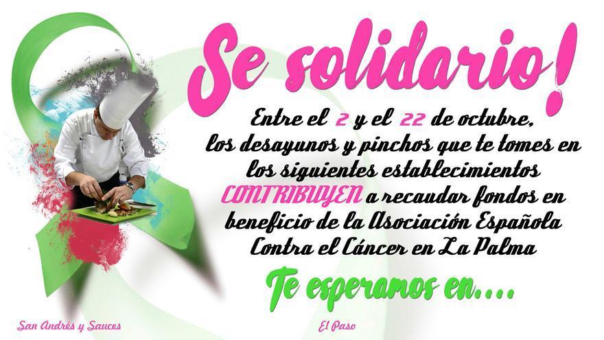 Cartel  de los Desayunos y Pinchos Solidarios.