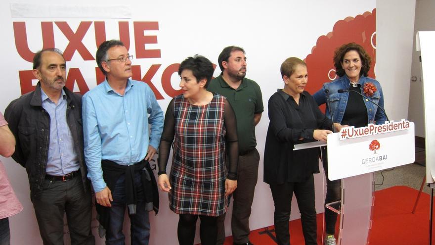 """Uxue Barkos pide llevar """"boca a boca y pueblo a pueblo la necesidad del cambio"""""""