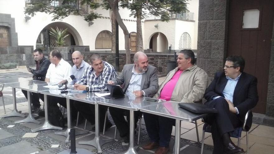 Representantes del sector del taxi en Las Palmas de Gran Canaria.