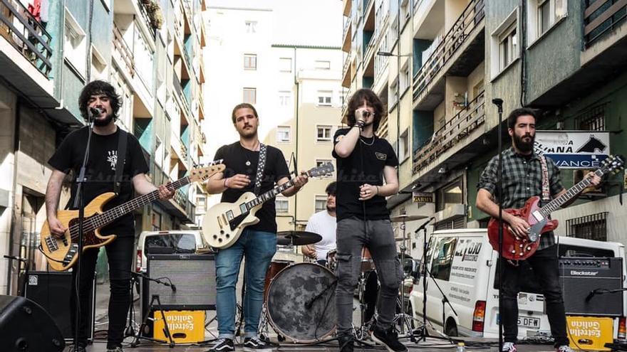 El grupo cántabro Senártica en concierto.