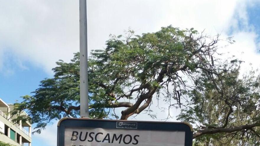 Campaña publicitaria en la vía pública del proyecto 'Base 25', que gestiona Cáritas