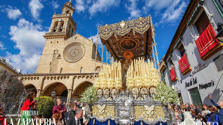 Virgen de la Merced, el Lunes Santo de 2018 | ÁLEX GALLEGOS