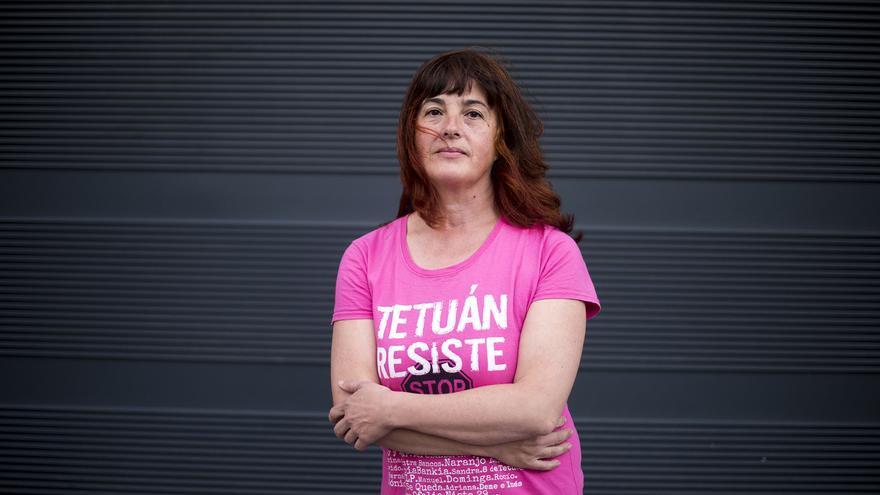 Isabel está acusada de delitos de resistencia y lesiones cuando intentaba parar un desahucio. / Fernando Sánchez
