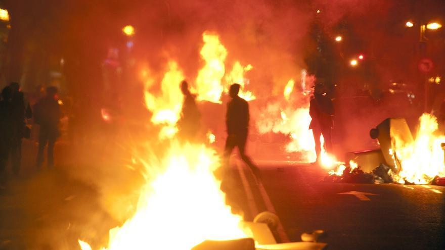 Atocha en llamas. Pasadas las 22.00h. Álvaro Minguito