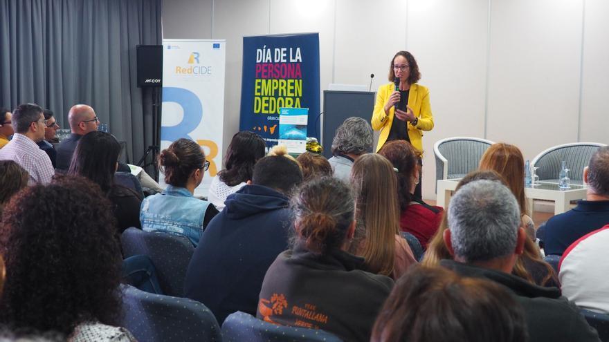 Cristina Carnicer este lunes en Breña Alta.