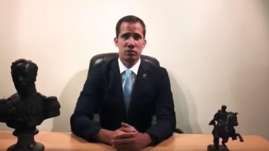 Mensaje de Juan Guaidó difundido a través de redes sociales