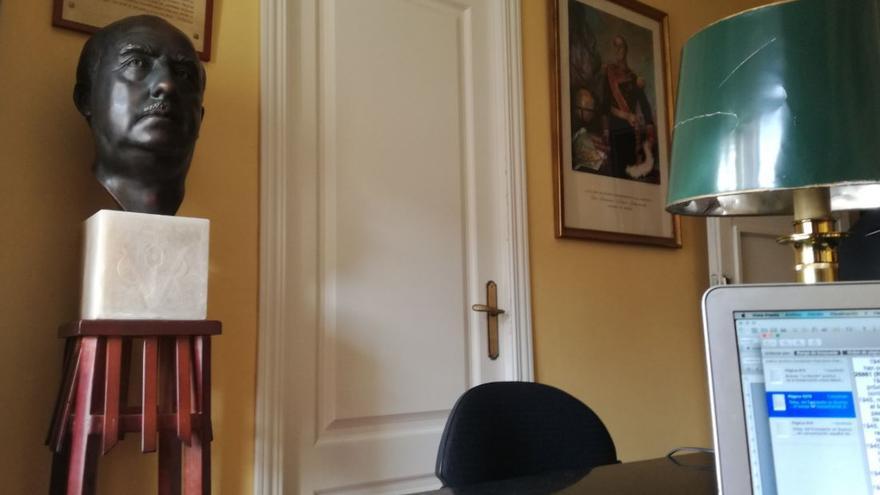 """""""Vista parcial de la sala de consulta para investigadores de la Fundación Nacional Francisco Franco"""""""