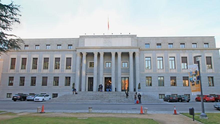 Edificio central del CSIC, en Madrid, donde se rodaron las escenas correspondientes a la Fábrica Nacional de Moneda y Timbre de la serie 'La casa de papel'.