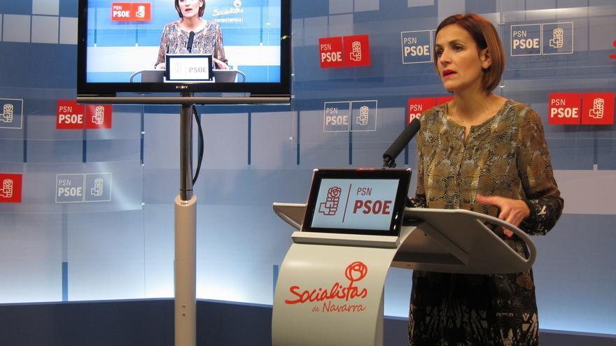 """La líder del PSOE navarro defiende a Sánchez, porque él """"no se presentaba a las elecciones"""""""