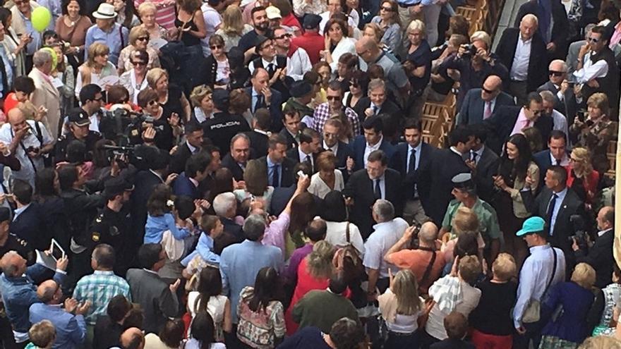 Rajoy, en la procesión del Corpus Christi de este jueves