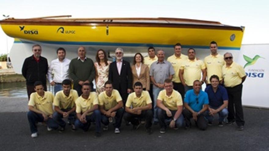 Imagen de la presentación del bote DISA Roque Nublo ULPGC.