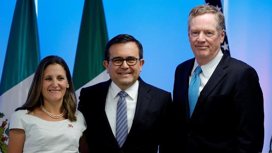 """México celebra conclusión """"exitosa"""" y progresos tras segunda ronda del TLCAN"""