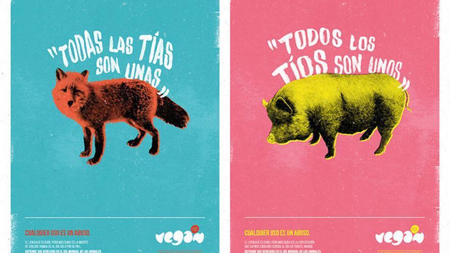 Publicidad del Vegan Fest 2015, que fue censurada por sexista tras protestas de colectivos feministas secundadas por el alcalde de Alicante.