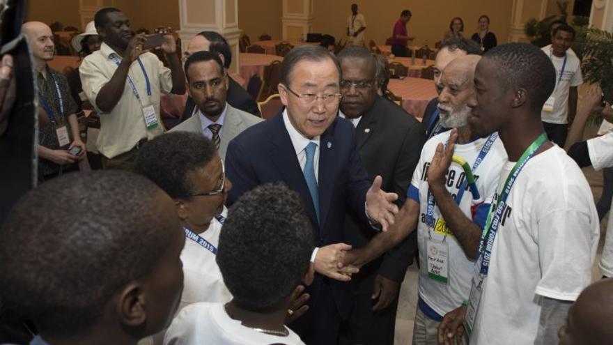 Ban Ki-moon en la Conferencia de Financiación al Desarrollo (Adís Abeba, Etiopía) - (c) UN Photo/Eskinder Debebe