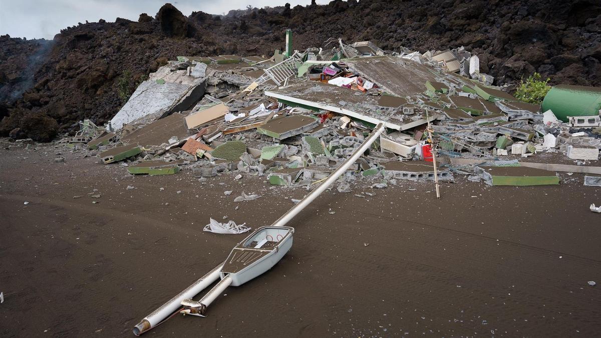 Destrozos en Todoque, La Palma, por el volcán
