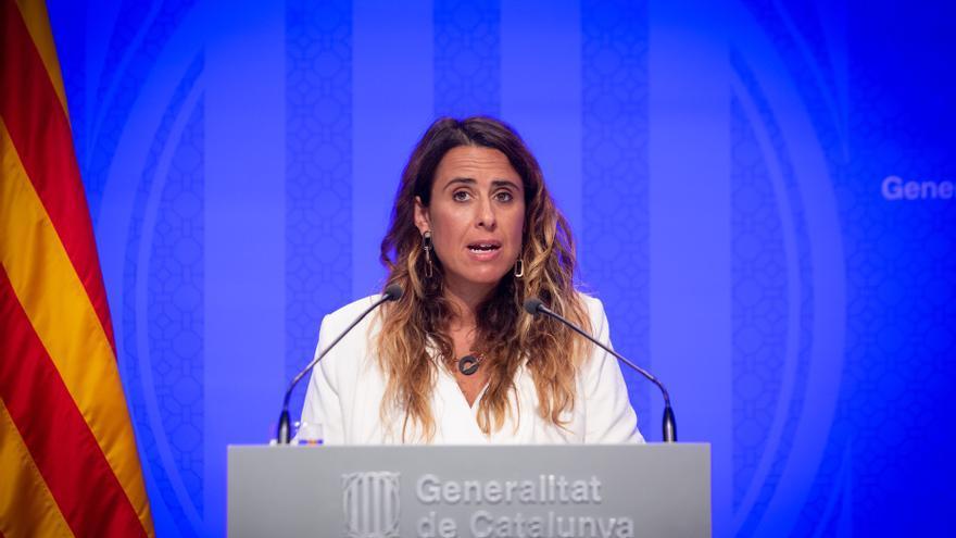 La portavoz del Govern, Patrícia Plaja, en rueda de prensa tras el Consell Executiu.