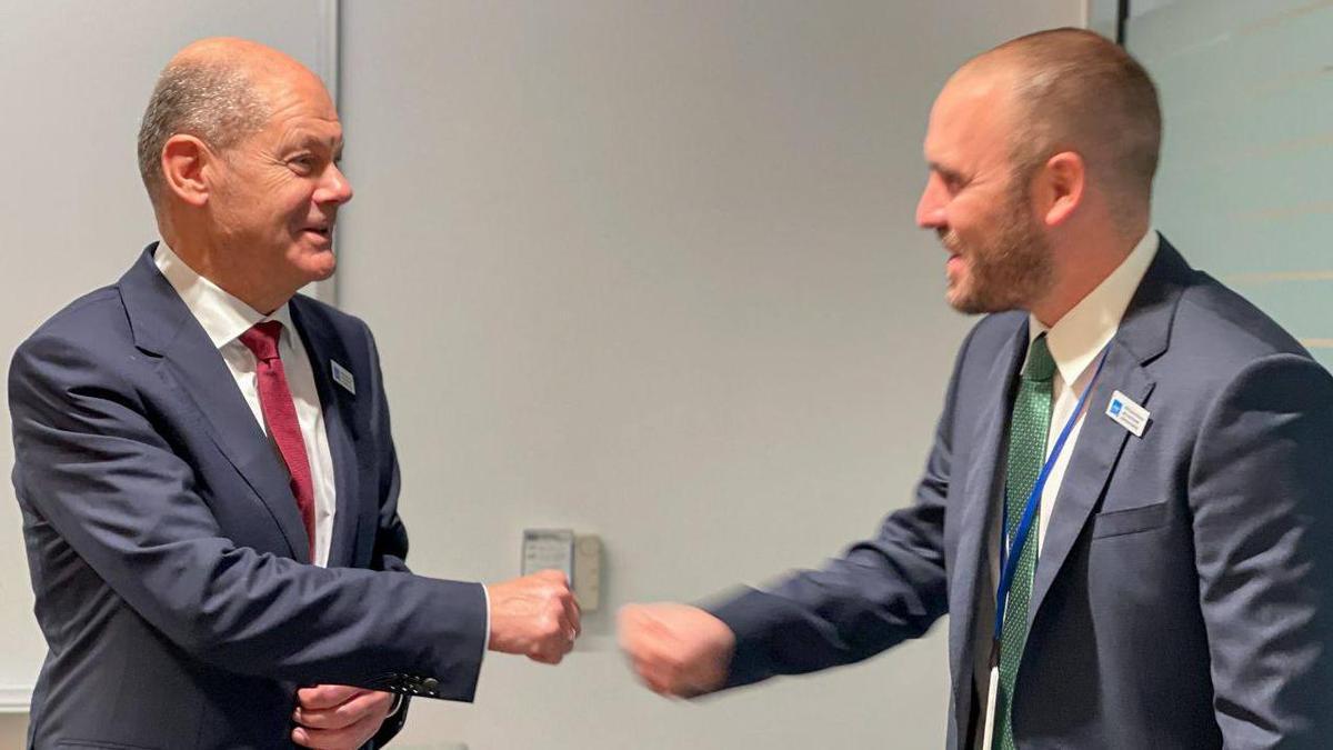 Martín Guzmán se reunió con el ministro de Finanzas y vicecanciller alemán, Olaf Scholz.