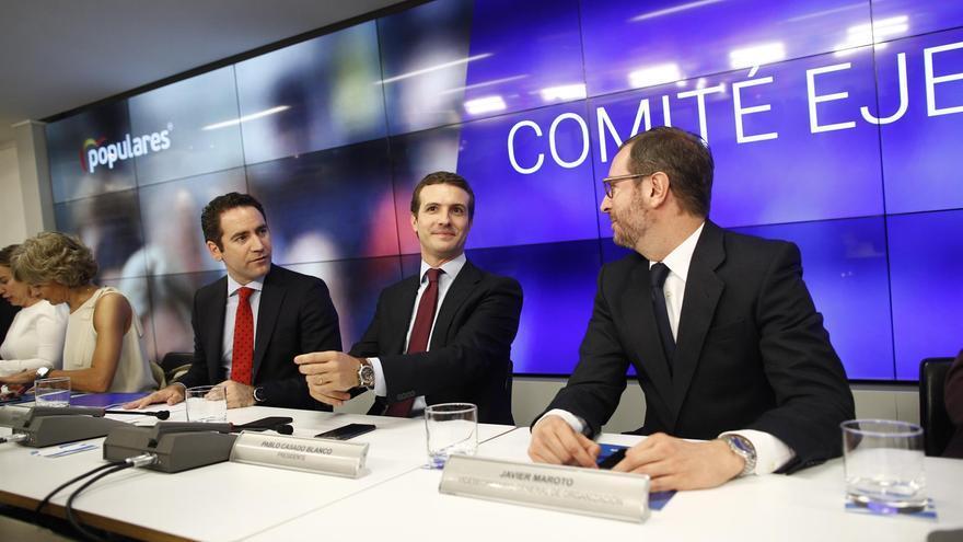García Egea, Pablo Casado y Javier Maroto (archivo).