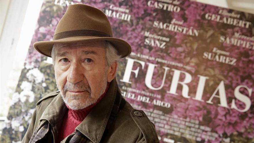 José Sacristán, en el Teatro Pavón Kamikaze, durante la jornada de promoción de la película 'Las furias'