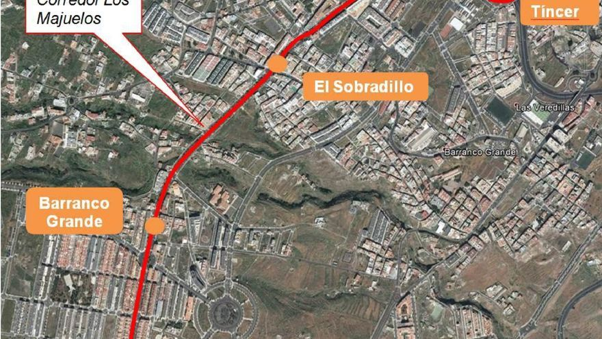 Trazado del tranvía de Tíncer a La Gallega, el que cuenta con aprobación ambiental
