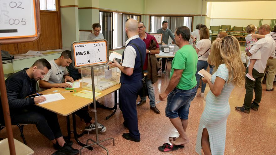 Jornada electoral en Gran Canaria.