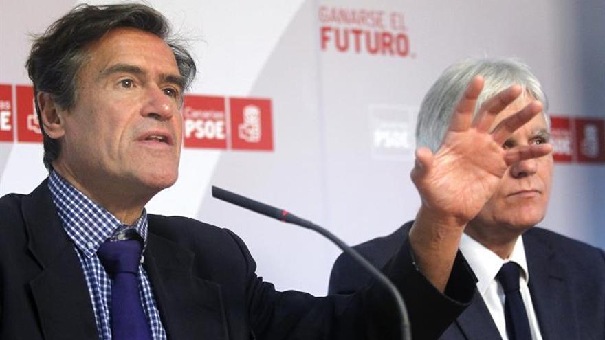 Juan Fernando López Aguilar, junto a José Miguel Pérez