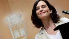 Isabel Díaz Ayuso en una rueda de prensa en la Asamblea de Madrid. Agosto de 2019. / PP