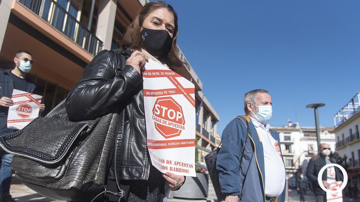 Protesta del Grupo de Trabajo contra las Casas de Apuestas.