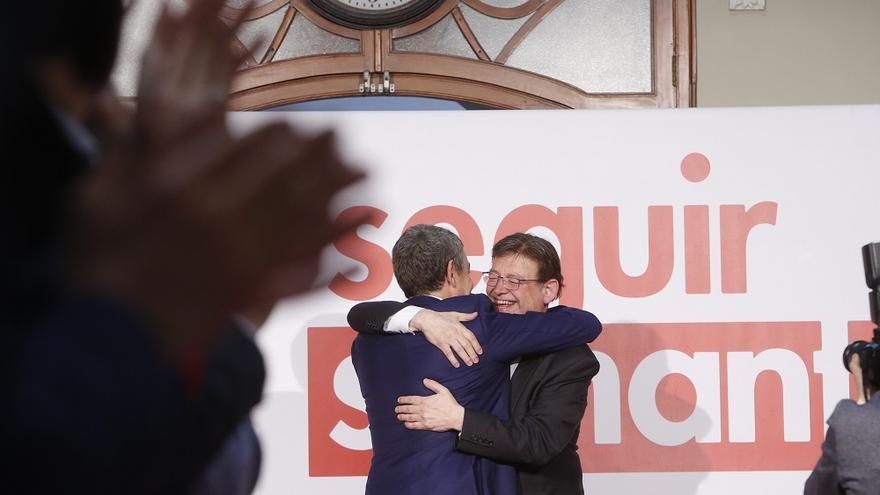 Ximo Puig t José Luis Rodríguez Zapatero en Algemesí