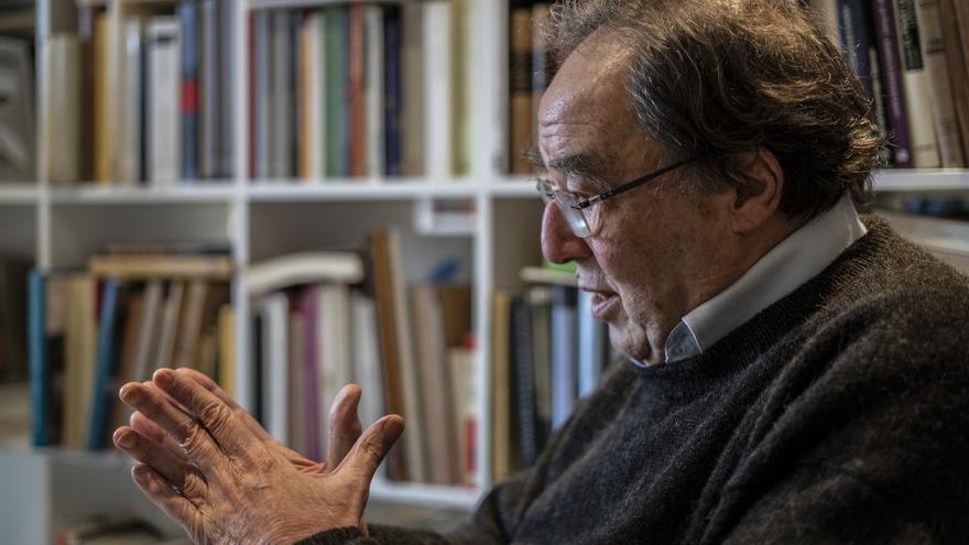 Francesc de Carreras en un momento de la entrevista con eldiario.es.