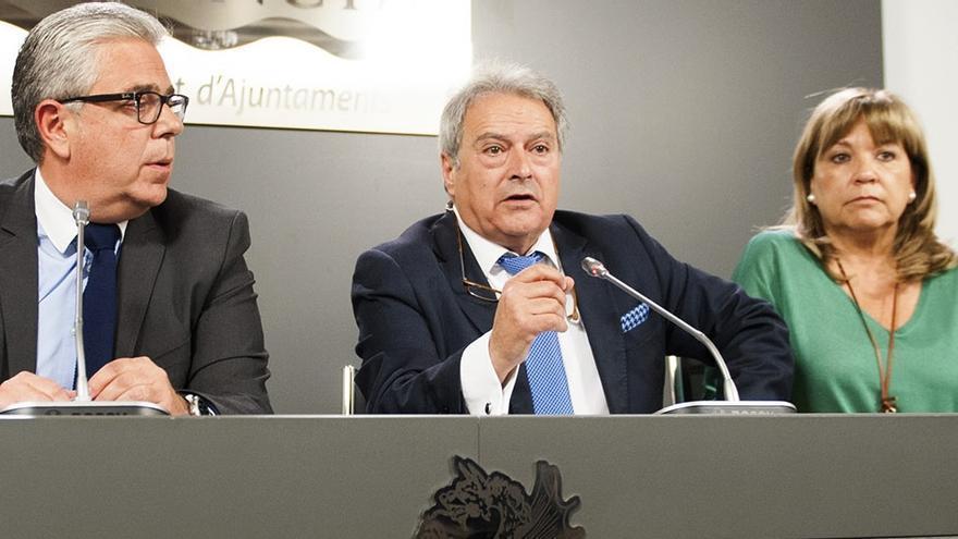 Alfonso Rus, durante la rueda de prensa en la Diputación