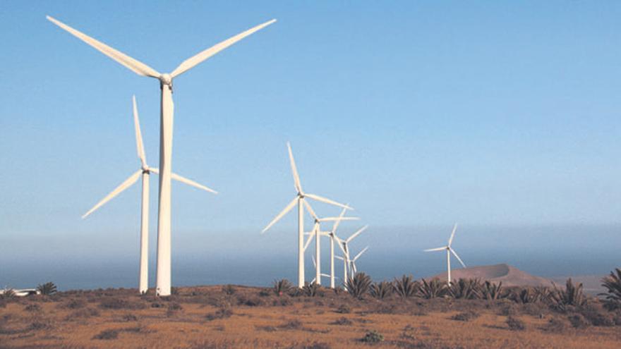 Parque de energía eólica, en Lanzarote