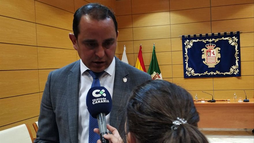 Blas Acosta, portavoz socialista en el Cabildo de Fuerteventura.