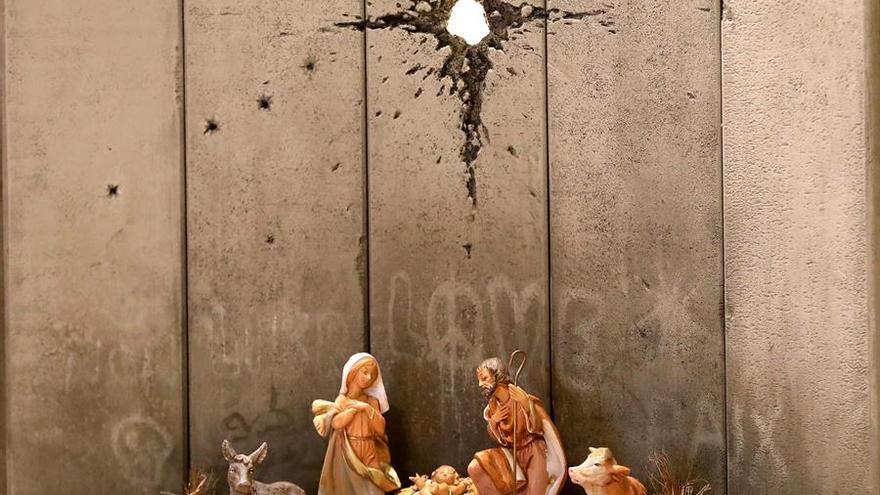 La última obra de Banksy en Belén