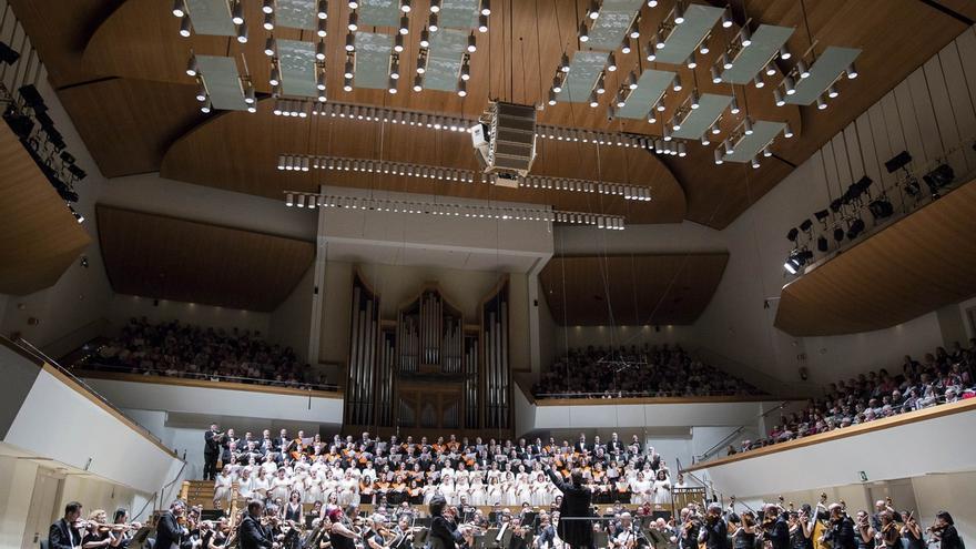 El Orfeón Pamplonés actúa en el Palau de la Música de Valencia