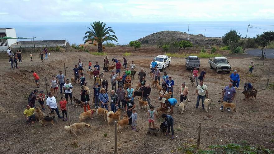 En la imagen, celebración del 'Reto 100% Pastor Garafiano'. Foto: AYUNTAMIENTO DE PUNTALLANA.