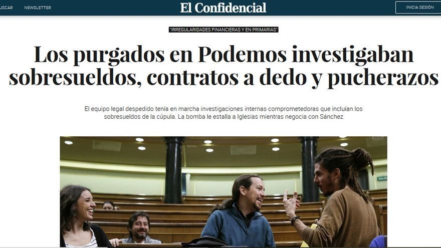 Captura de El Confidencial