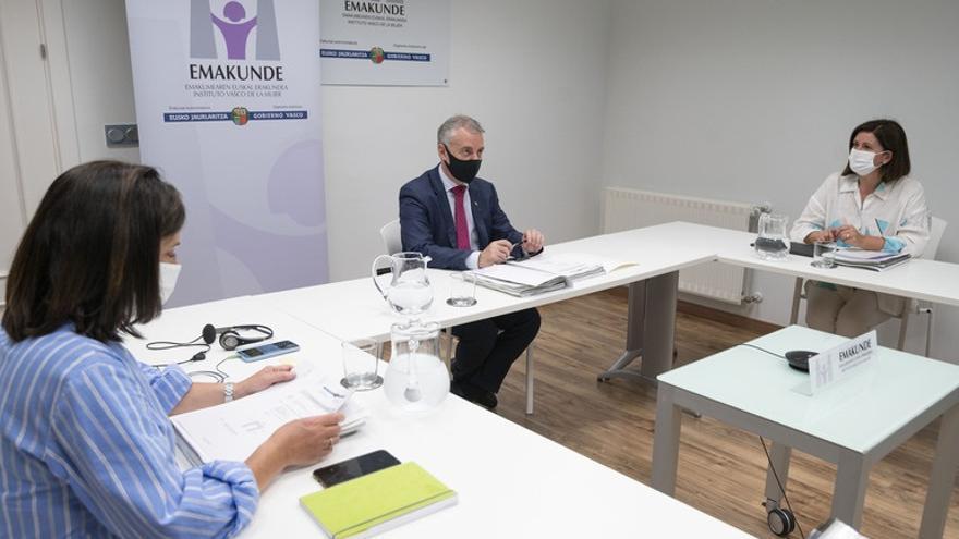 El lehendakari reafirma el compromiso de las instituciones vascas con la igualdad y contra la violencia machista