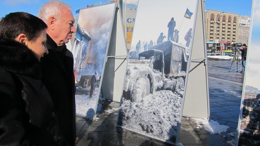 El presidente de Ucrania recibe a Margallo en vísperas de la cumbre de Minsk