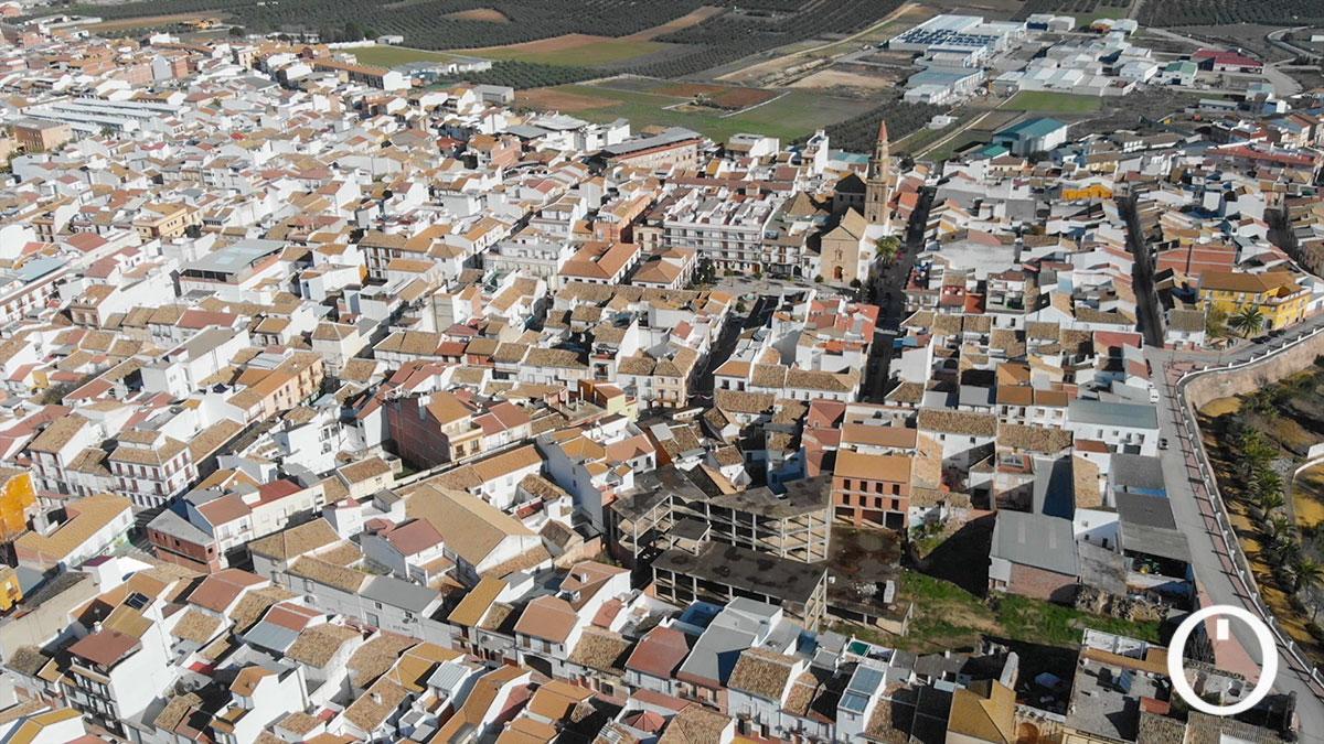 Vista aérea de Benamejí