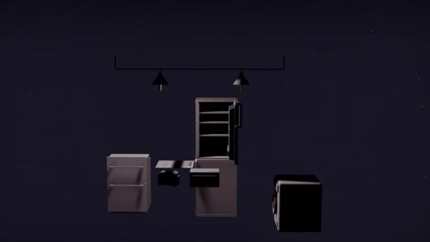 Lavadora, estanterías, pequeños electrodomésticos... El diseño de las cocinas no ha cambiado en las últimas décadas (Imagen: Grace Quah | Vimeo)