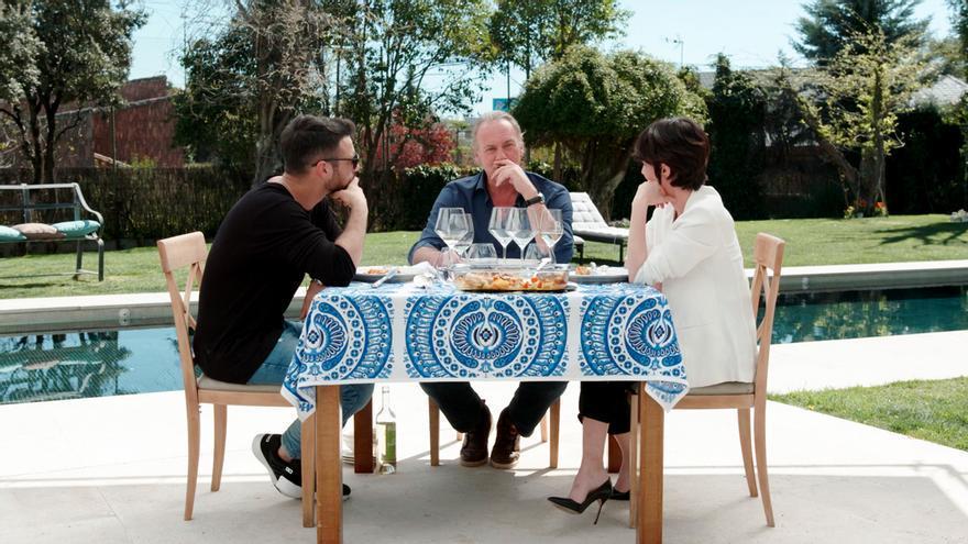 Bertín Osborne con Jesús Castro y Paz Vega en Mi casa es la tuya