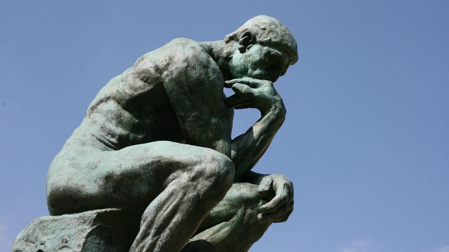 'El pensador' de Auguste Rodin.