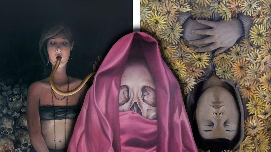 Collage de varias obras de Fernando Oliver. (Canarias Ahora)