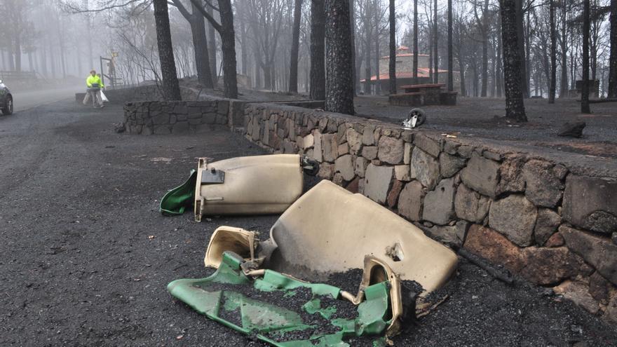 Efectos del fuego en la cumbre
