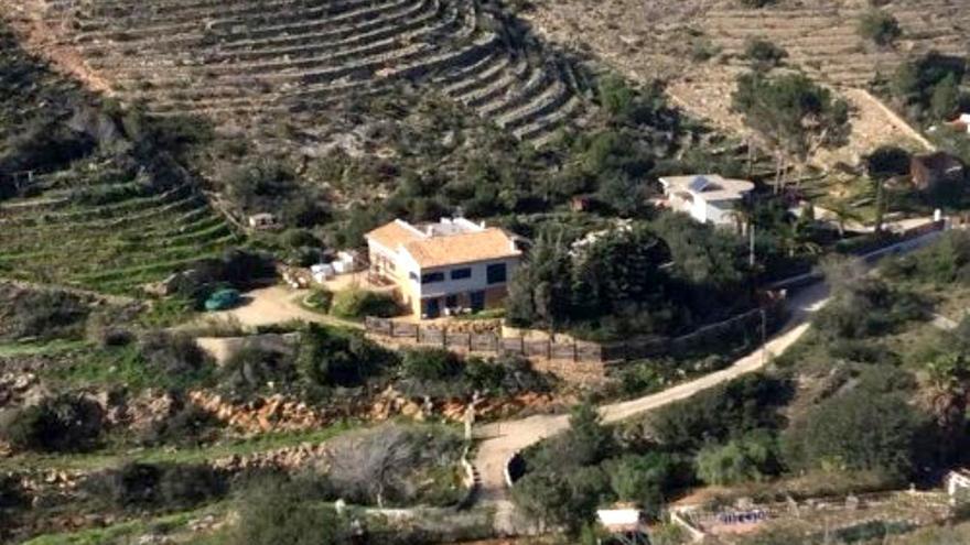 El chalet afectado por la resolución judicial en el Montgó